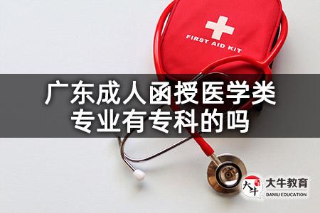广东成人函授医学类专业有专科的吗